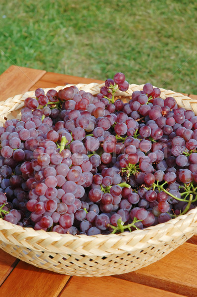 ブドウ 赤 ブドウ ワイン バスケット ストックフォト © Calek