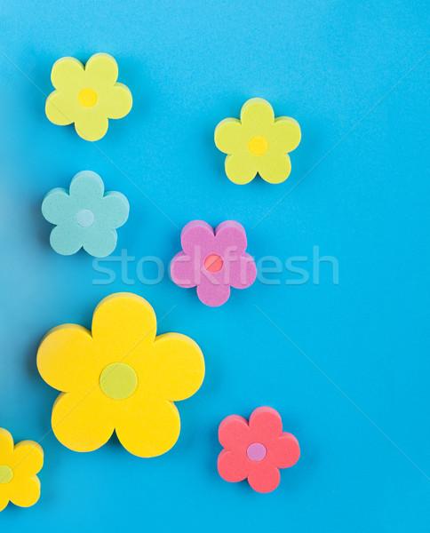 Mavi renkli çiçekler çiçek dizayn arka plan Stok fotoğraf © Calek