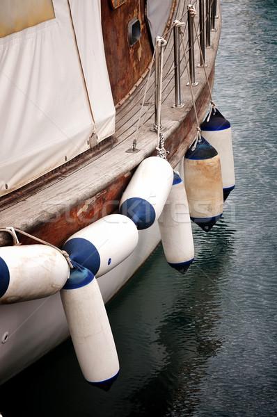 Boa viaggio blu bianco lato barca Foto d'archivio © Calek