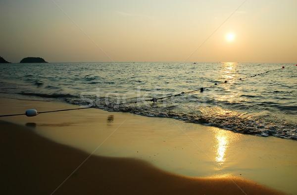 Plaj halat şamandıra phuket Tayland gökyüzü Stok fotoğraf © Calek