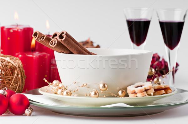 Navidad naturaleza muerta cookies velas gafas Foto stock © Calek