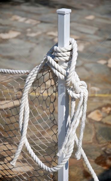 Cordão branco corda cabo padrão linha Foto stock © Calek