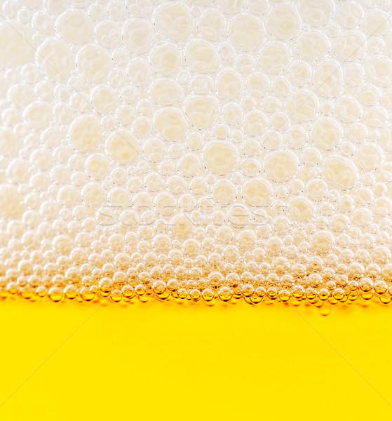 Bubbels Geel detail bier abstract ontwerp Stockfoto © Calek