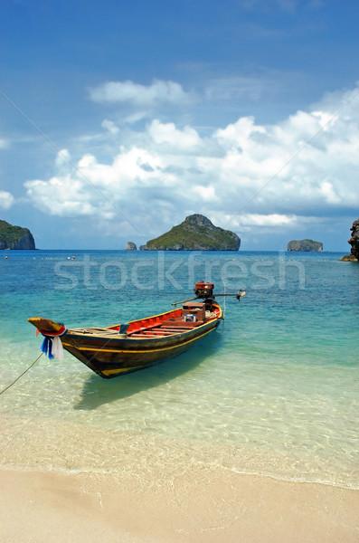 Barco mar Tailândia praia natureza verão Foto stock © Calek