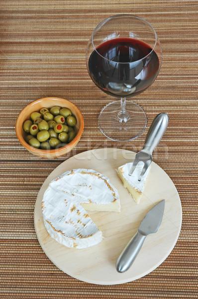 şarap peynir zeytin gıda parti Stok fotoğraf © Calek