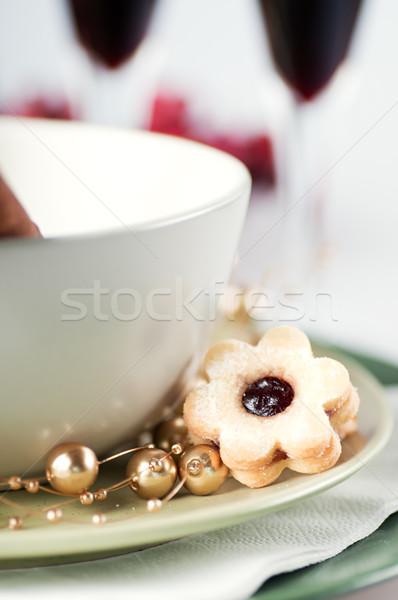 Christmas cookies voedsel bril winter groep Stockfoto © Calek