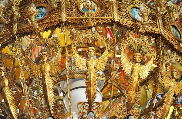 люстра золото монастырь Иисус Церкви путешествия Сток-фото © Calek