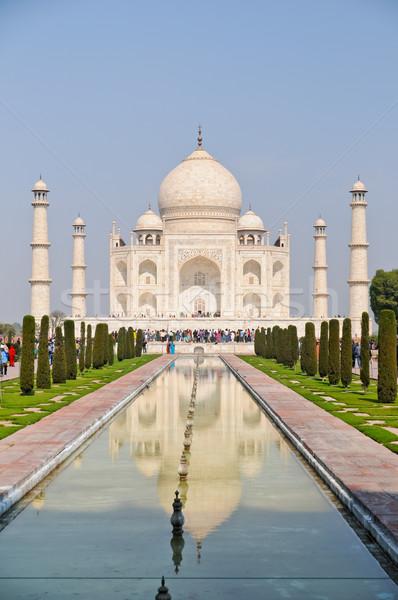 The Taj Mahal at noon Stock photo © calvste