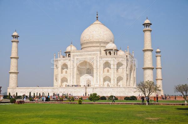 Taj Mahal meio-dia mausoléu Índia imperador amor Foto stock © calvste