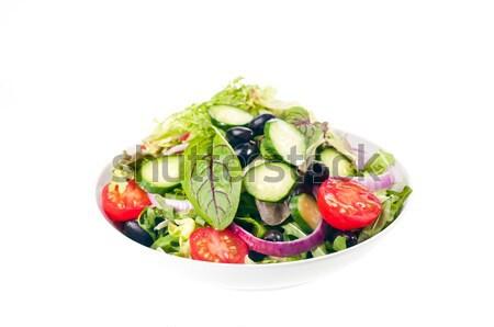 Isolado tigela fresco salada combinação variedade Foto stock © calvste