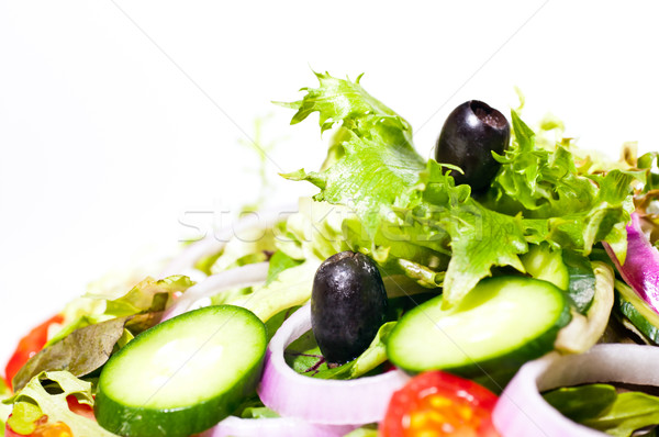 Fresh mesclun salad extreme close up  Stock photo © calvste