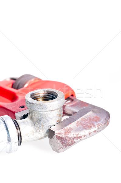 трубы ключа водопроводной совместный фон Сток-фото © calvste