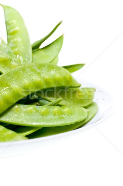 зеленый горох пластина свежие продовольствие Сток-фото © calvste