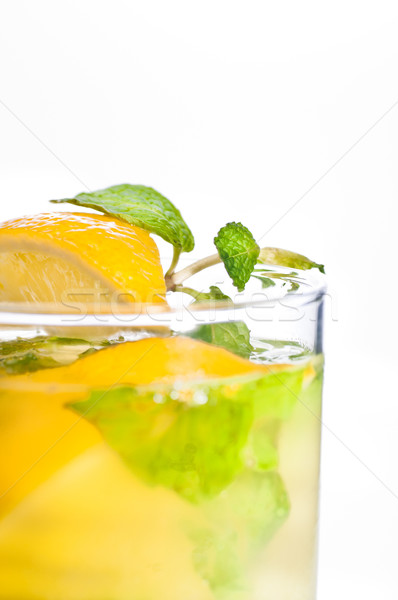 Stock photo: Mojito cocktail close up