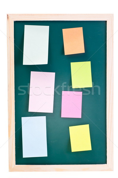 Chalk board with sticky notes Stock photo © calvste