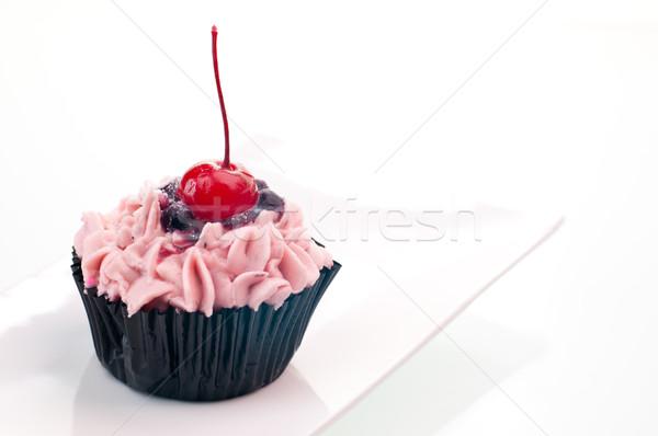 ストックフォト: 赤 · 桜 · 白 · プレート