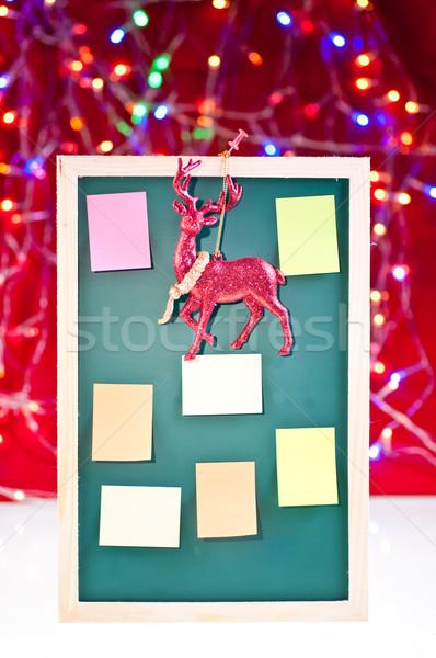 Christmas notice board with santa's rain deer decoration Stock photo © calvste