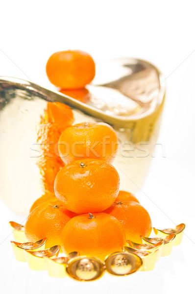 мандарин большой весны счастливым Сток-фото © calvste