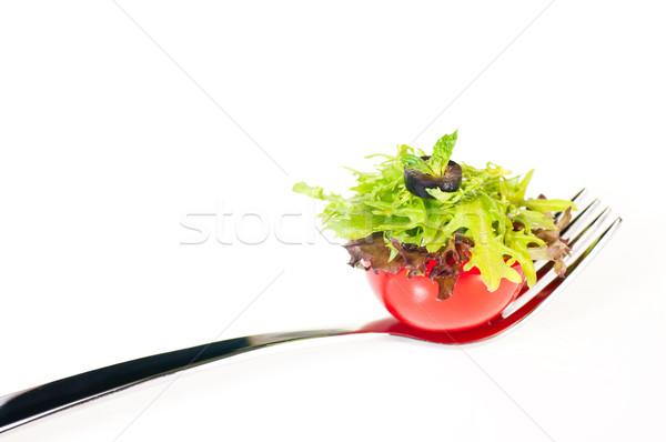 свежие томатный Салат вилка Сток-фото © calvste