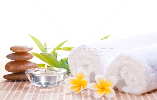 Spa concept with zen stones and flowers Stock photo © calvste
