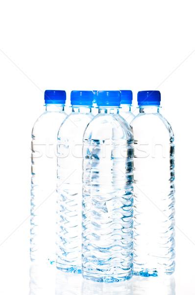 água garrafas isolado branco primavera Foto stock © calvste