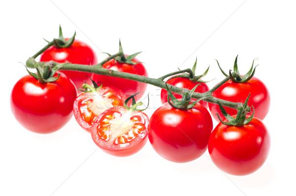 Tomates cereja videira isolado branco natureza jardim Foto stock © calvste