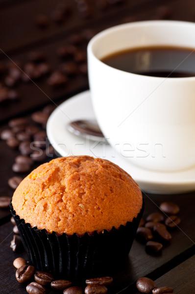 Stok fotoğraf: Kahve · çörek · tablo · gıda · kahvaltı