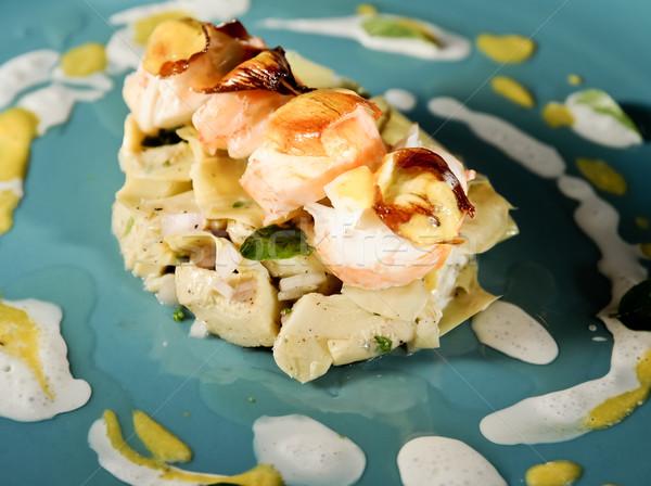 Italian grill lobster and artichoke dish Stock photo © calvste