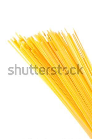 Espaguete isolado branco secar italiano macarrão Foto stock © calvste