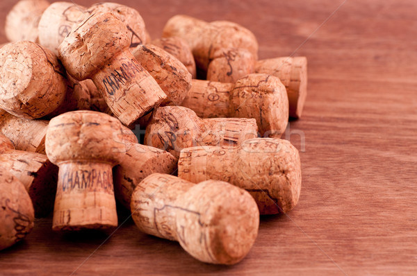 Champagne and sparkling wine corks close up Stock photo © calvste