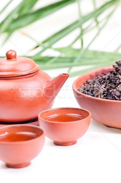 Chinese tea set Stock photo © calvste