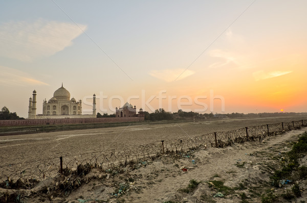 Тадж-Махал закат мавзолей Индия император любви Сток-фото © calvste