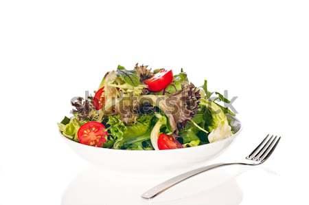 Friss paradicsom saláta salátástál paradicsomok saláta Stock fotó © calvste