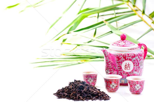 Stock photo: Porcelain  Chinese tea set