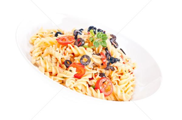 Vegetarian pasta aglio olio  Stock photo © calvste