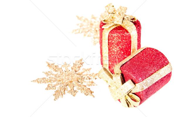 Vermelho ouro natal par fundo Foto stock © calvste