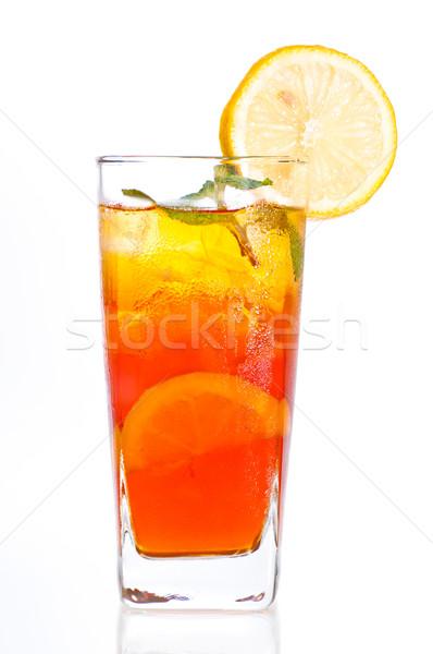 Stock fotó: Jég · citrom · tea · friss · hideg · víz