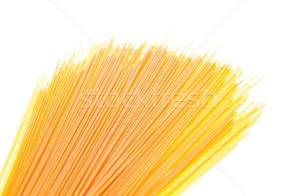 Espaguete branco secar italiano macarrão ovo Foto stock © calvste