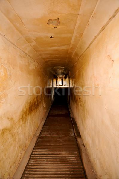 Alagút borostyánkő erőd absztrakt fény élet Stock fotó © calvste