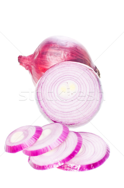 Red onion slices Stock photo © calvste