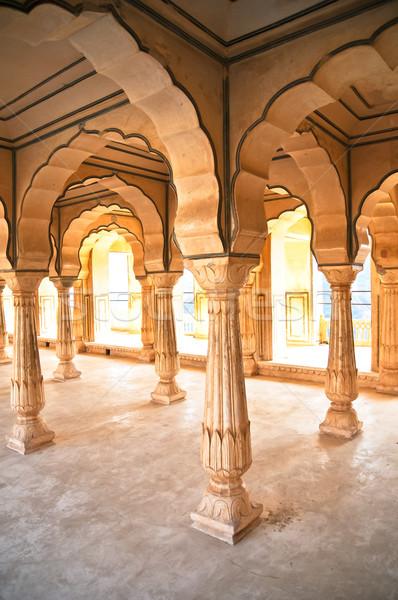 Ouvir âmbar forte Índia construção abstrato Foto stock © calvste