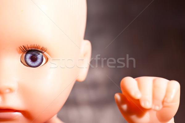Old baby doll close up Stock photo © calvste