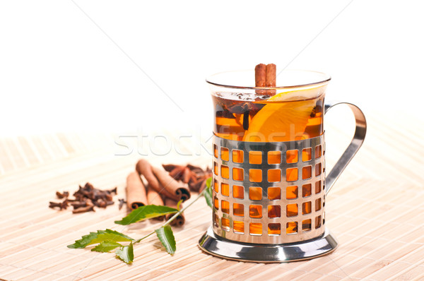 Hot lemon spiced tea Stock photo © calvste