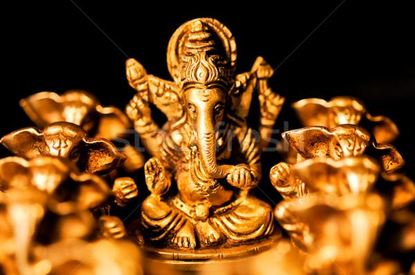 Közelkép Isten istentisztelet fej elefánt béke Stock fotó © calvste