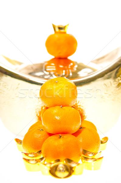мандарин большой весны счастливым азиатских Сток-фото © calvste