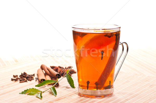 Lemon spiced tea Stock photo © calvste
