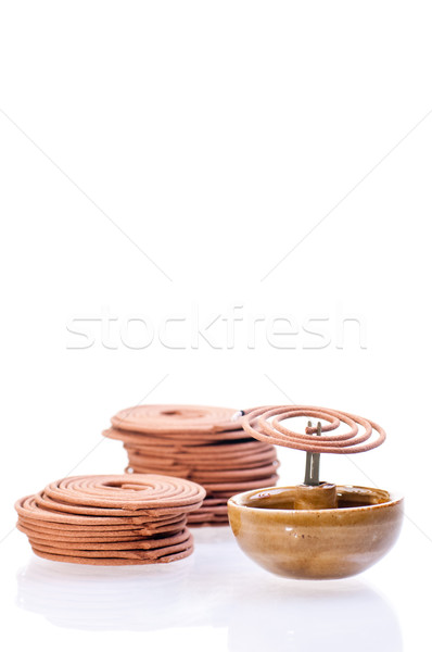 Incense coil burning Stock photo © calvste