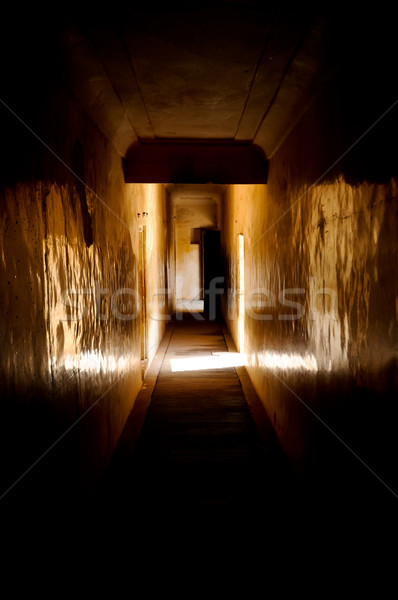 Door  at the end of the Tunnel in Amber Fort , Jaipur Stock photo © calvste