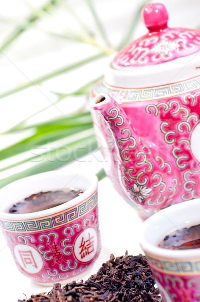 Porcelain Chinese tea set  Stock photo © calvste