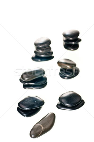 сбалансированный zen камней белый изолированный Сток-фото © calvste